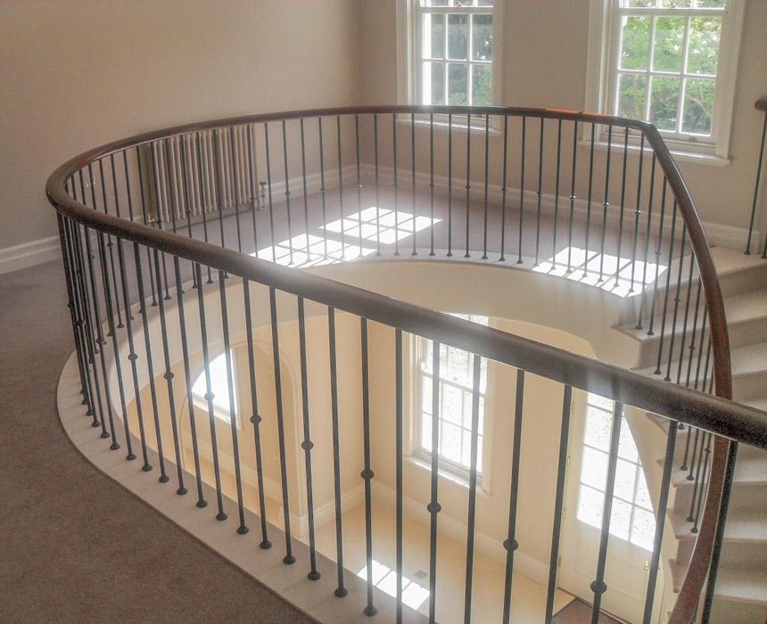 Mild Steel metal balustrade edging mezzanine balcony