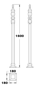 GA122 Stirling cast iron railing posts