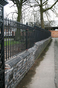Mild steel church railings for St Lawrences church