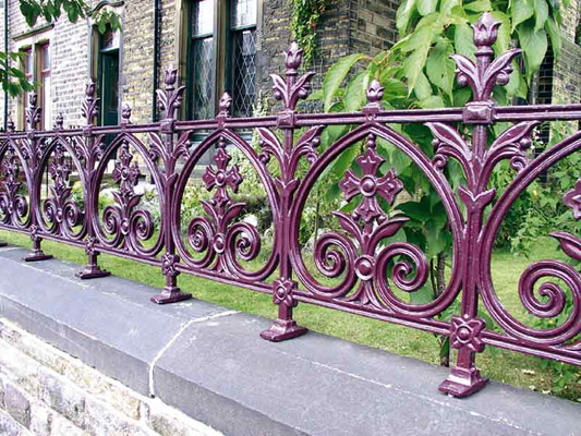 Cast iron railing panels from the Heritage Terrace collection