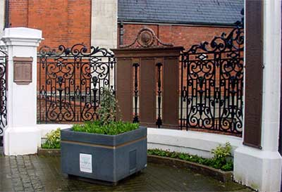 Welsh blacksmiths, celtic tradition of wrought ironwork shows in these traditional iron gates