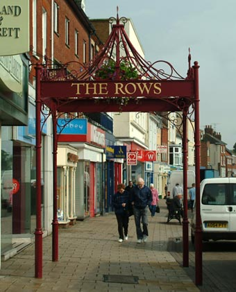 Iron work in Yarmouth, Norfolk has been gilded with gold leaf adding signage to this regeneration project structure