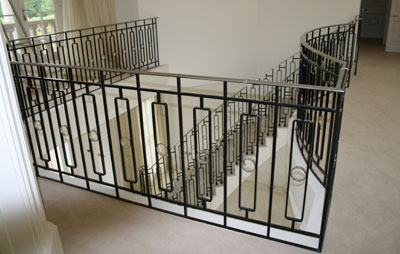 MIld steel balustrading in Weybridge Surrey