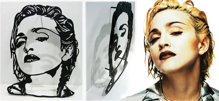 Laser Cut Portraiture in Steel