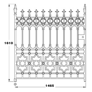 Stewart GA005 cast iron ten foot wide driveway gates