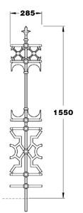 Stewart GA018 Victorian railing joiner panel