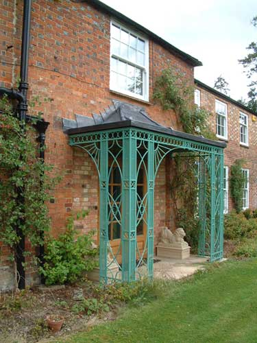 an ornamental wrought iron veranda in Hampshire