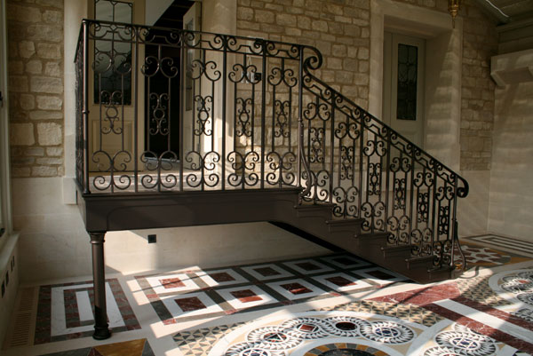 hand forged ironwork stair balustrading