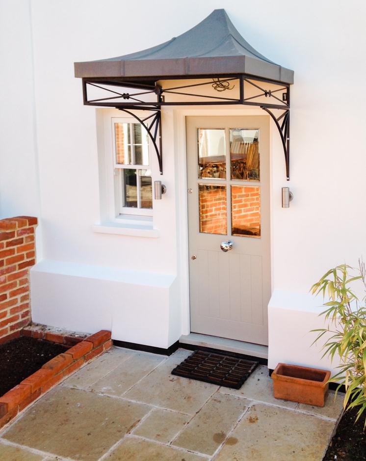 Decorative Deco design Metal Door Canopy Cover with complete Zinc Roof