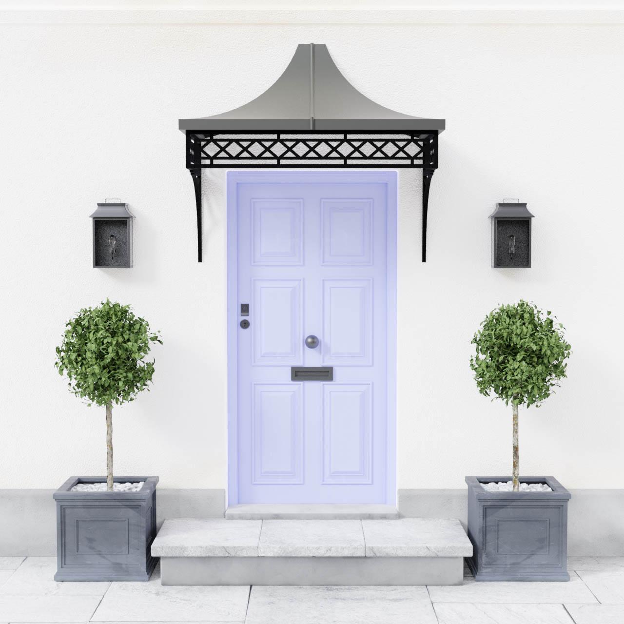 Georgian Metal Entrance Door Canopy