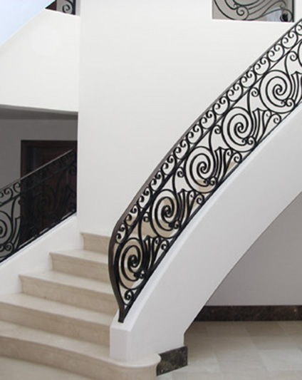Curved Staircase Metal Balustrade