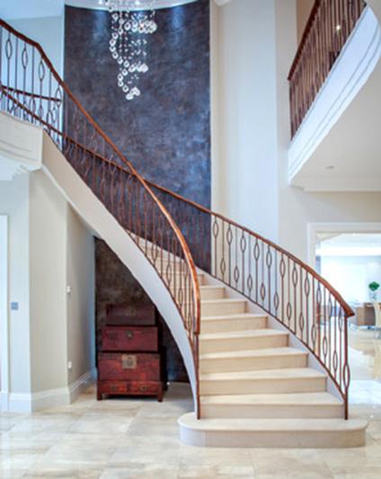 Contemporary Staircase Metal Balustrade