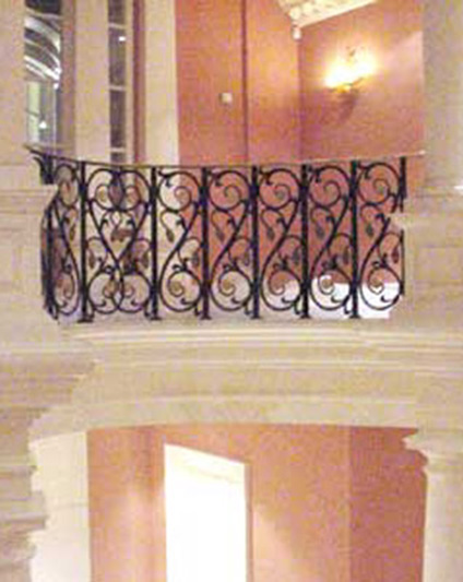 Cast Iron - Brass Handrails