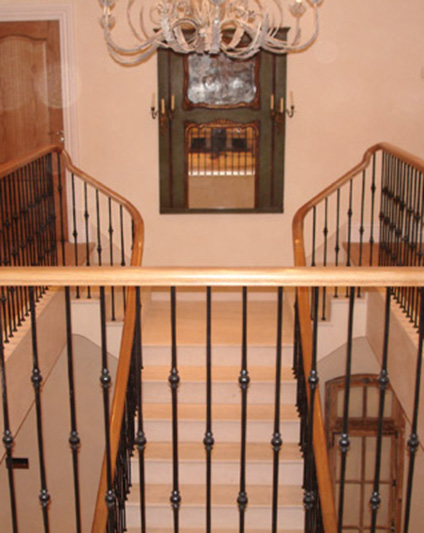 Wrought Iron Marble & Oak Staircases