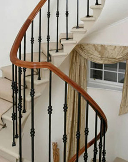 Contemporary Steel & Marble Staircase