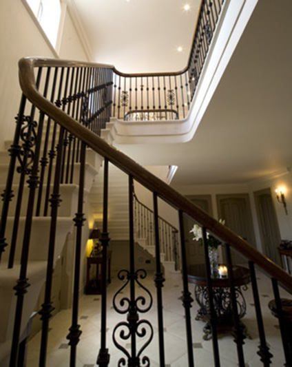 traditional metal staircase railings